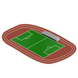 Τυποποιημένος τομέας χλόης ποδοσφαίρου Στοκ Φωτογραφία