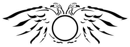Τυποποιημένος δύο-διευθυνμένος αετός με την ασπίδα απεικόνιση αποθεμάτων