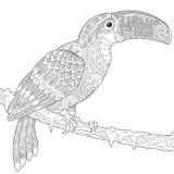 Τυποποιημένος toucan Zentangle απεικόνιση αποθεμάτων