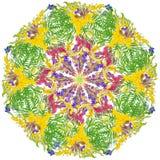 Τυποποιημένο άνευ ραφής floral σχέδιο αστεριών Στοκ Εικόνα