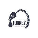 Τυποποιημένο αφηρημένο πλάγιας όψης πρότυπο λογότυπων της Τουρκίας γραφικό διανυσματική απεικόνιση