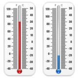 Τυποποιημένο θερμόμετρο Στοκ Φωτογραφίες
