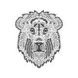 Τυποποιημένο κεφάλι λιονταριών Zentangle Στοκ εικόνα με δικαίωμα ελεύθερης χρήσης