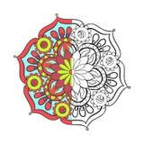 Τυποποιημένο κομψό χρώμα αραβικό Mandala Zentangle για το χρωματισμό απεικόνιση αποθεμάτων