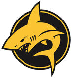 Τυποποιημένο λογότυπο καρχαριών διανυσματική απεικόνιση