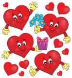 Τυποποιημένο σύνολο 1 θέματος καρδιών Στοκ Εικόνες