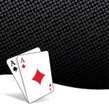 Τυποποιημένο υπόβαθρο πόκερ διανυσματική απεικόνιση