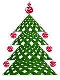 Τυποποιημένο χριστουγεννιάτικο δέντρο για την επιθυμία Στοκ Φωτογραφίες