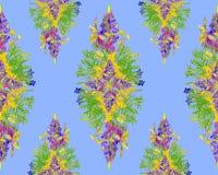Τυποποιημένο floral άνευ ραφής σχέδιο πλαισίων - ανθοδέσμη για την πρόσκληση Στοκ Εικόνα