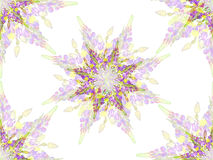 Τυποποιημένο floral σχέδιο αστεριών Στοκ Φωτογραφία