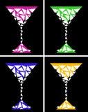 Τυποποιημένο martini γυαλί Στοκ Εικόνες