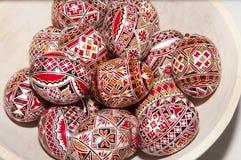 Τυπωμένα Πάσχα αυγά Στοκ εικόνες με δικαίωμα ελεύθερης χρήσης