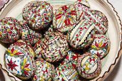 Τυπωμένα Πάσχα αυγά Στοκ Εικόνες