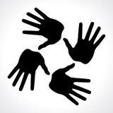 τυπωμένες ύλες εικονιδίων χεριών Στοκ Φωτογραφίες