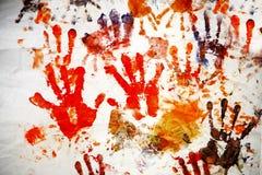 τυπωμένες ύλες χεριών Στοκ Εικόνα