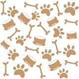 Τυπωμένες ύλες ποδιών σκυλιών Στοκ εικόνα με δικαίωμα ελεύθερης χρήσης