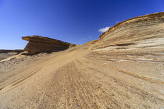 Τυπωμένες ύλες ροδών στην έρημο Στοκ Φωτογραφία