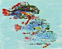 Τυπωμένες ύλες ψαριών Goyutaku Στοκ εικόνες με δικαίωμα ελεύθερης χρήσης