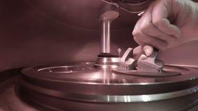 Τυπωμένη αντικείμενο σκόνη μετάλλων στον τρισδιάστατο εκτυπωτή μετάλλων απόθεμα βίντεο