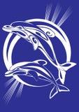 τυπωμένη ύλη ζευγαριού δελφινιών Στοκ φωτογραφία με δικαίωμα ελεύθερης χρήσης