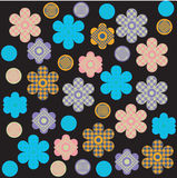 τυπωμένη ύλη λουλουδιών &sig Στοκ εικόνες με δικαίωμα ελεύθερης χρήσης