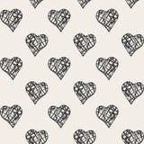 Τυπωμένη ύλη με τις καρδιές Στοκ φωτογραφίες με δικαίωμα ελεύθερης χρήσης