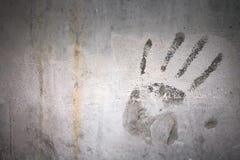 Τυπωμένη ύλη χεριών Grunge Στοκ φωτογραφίες με δικαίωμα ελεύθερης χρήσης