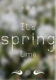 Τυπωμένη ύλη άνοιξη - χρόνος άνοιξη Στοκ εικόνα με δικαίωμα ελεύθερης χρήσης