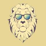 Τυπωμένη ύλη λιονταριών Hipster Στοκ εικόνα με δικαίωμα ελεύθερης χρήσης