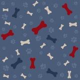 τυπωμένη ύλη ποδιών σκυλιών κόκκαλων ανασκόπησης Στοκ Εικόνα