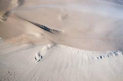 Τυπωμένη ύλη ποδιών στη δύο χρωματισμένη υγρή άμμο Στοκ εικόνες με δικαίωμα ελεύθερης χρήσης