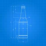 Τυπωμένη ύλη του μπουκαλιού μπύρας Στοκ Εικόνα