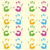 Τυπωμένη ύλη του σχεδίου χεριών Στοκ εικόνες με δικαίωμα ελεύθερης χρήσης