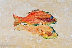 Τυπωμένη ύλη 3 ψαριών Goyutaku Στοκ εικόνες με δικαίωμα ελεύθερης χρήσης