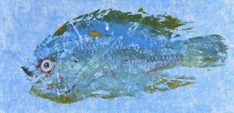 Τυπωμένη ύλη 4 ψαριών Goyutaku Στοκ Εικόνες