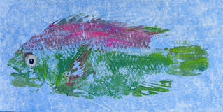 Τυπωμένη ύλη 6 ψαριών Goyutaku Στοκ Εικόνες