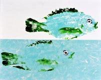 Τυπωμένη ύλη 7 ψαριών Goyutaku Στοκ εικόνα με δικαίωμα ελεύθερης χρήσης