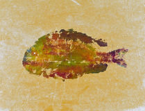 Τυπωμένη ύλη 9 ψαριών Goyutaku Στοκ Εικόνες