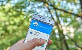 Τυπωμένη ύλη app σύννεφων Google Στοκ Εικόνες