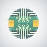 Τυπωμένο εικονίδιο πινάκων κυκλωμάτων Στοκ Φωτογραφία