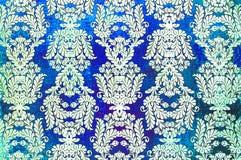 Τυπωμένο τρύγος damask επαναλαμβάνει το σχέδιο Στοκ Εικόνες