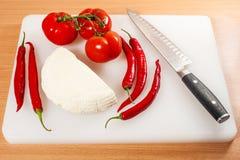 Τυρί αιγών με τα λαχανικά 01 Στοκ Φωτογραφία