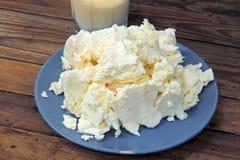 Τυρί εξοχικών σπιτιών και ξινή κρέμα στοκ εικόνα