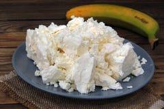 Τυρί εξοχικών σπιτιών και ξινή κρέμα στοκ φωτογραφία