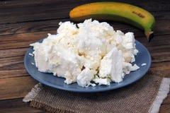 Τυρί εξοχικών σπιτιών και ξινή κρέμα στοκ εικόνες