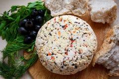 Τυρί εξοχικών σπιτιών με τα καρυκεύματα Στοκ φωτογραφία με δικαίωμα ελεύθερης χρήσης