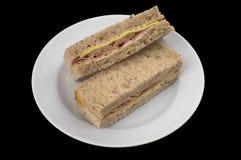 Τυρί ζαμπόν σάντουιτς Στοκ Φωτογραφία