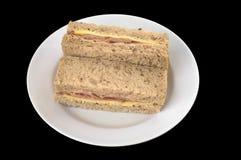 Τυρί ζαμπόν σάντουιτς Στοκ Εικόνες