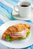 Τυρί ζαμπόν Croissant Στοκ εικόνες με δικαίωμα ελεύθερης χρήσης