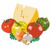 Τυρί και λαχανικά Στοκ Φωτογραφία